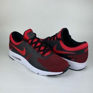 Nike Air Max Zero Running Shoes Red Black Size 12